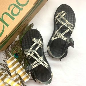 *Chacos - ZX/2 White & Gray Adjustable Sandals*